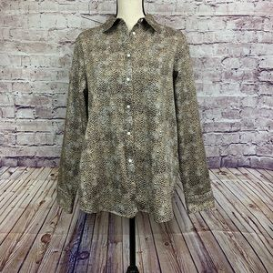 Chaps Animal Print Button Front Shirt